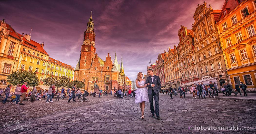 Wrocław Moje Miasto - Miejsce na Twoją sesję ślubną w plenerze. Fotograf Wrocław SŁOMIŃSKI.