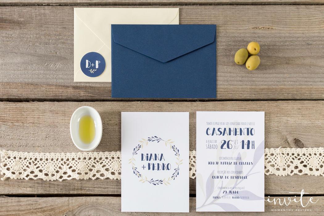 Convite Blue Olive