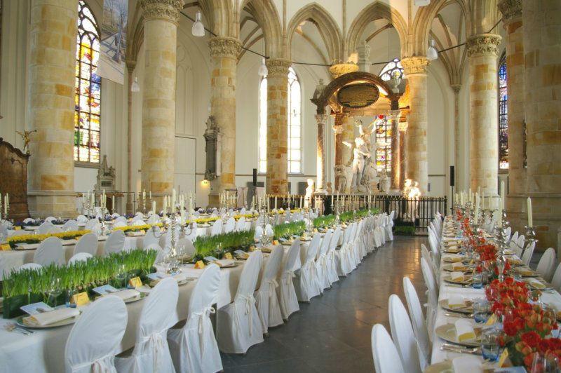 De kerkzaal van de Grote Kerk Den Haag