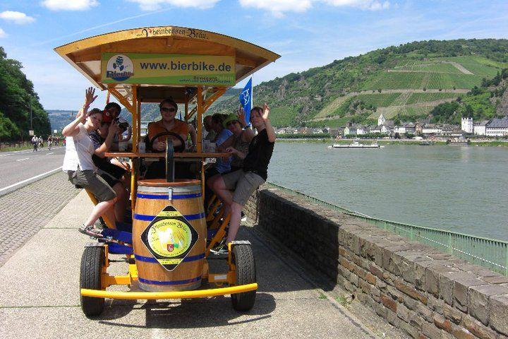 Beispiel: Gruppenausflug mit Getränkegenuss, Foto: BierBike Mainz.