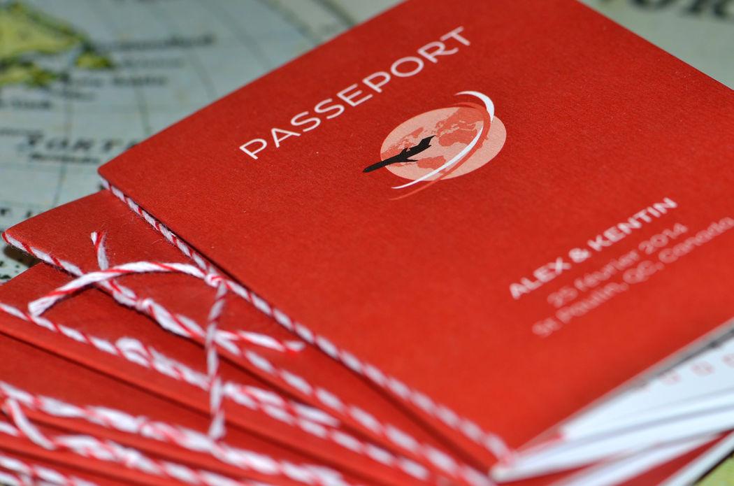 Faire-part Passeport Mariage L'Atelier d'Elsa Le Véritable Sur Mesure
