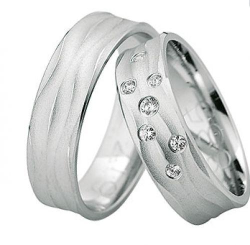 Beispiel: Trauringe mit Brillanten, Foto: Juwelier Dietz.