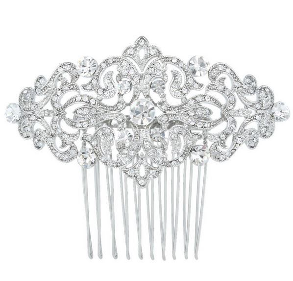 peigne mariage coiffure cristal Arabesque