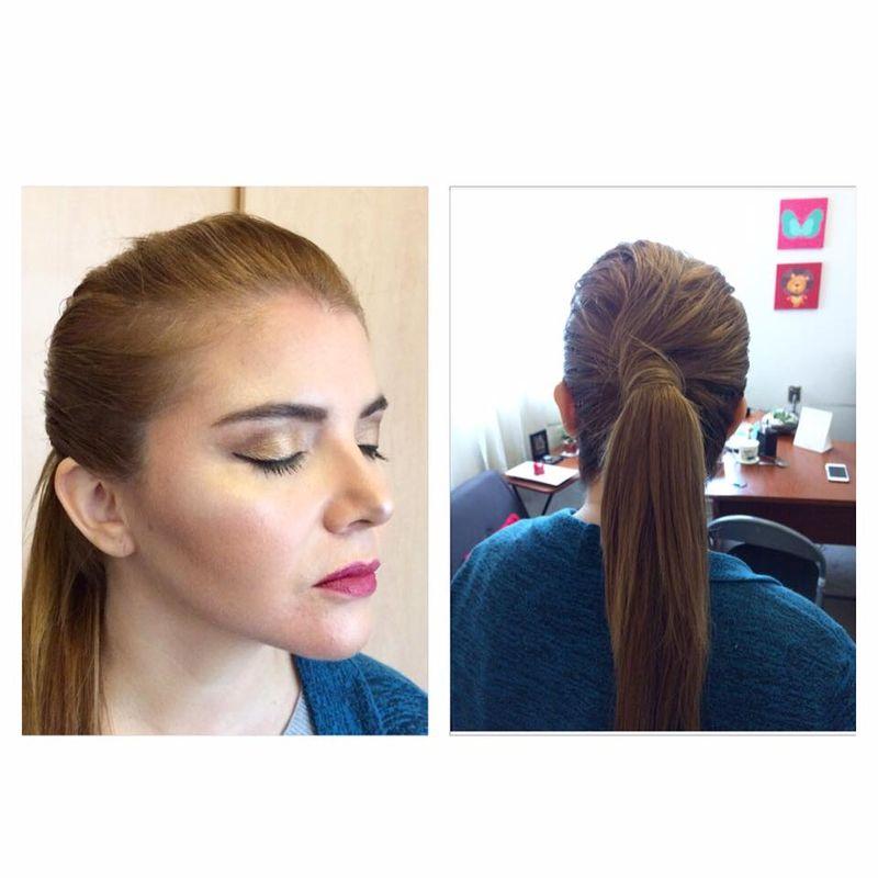 Maquillaje y peinado para invitada