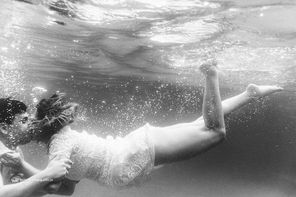 Beijo debaixo d'água