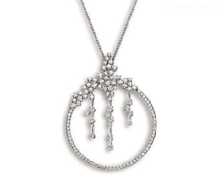 Gioielleria Recalcati pendente in oro bianco con diamanti