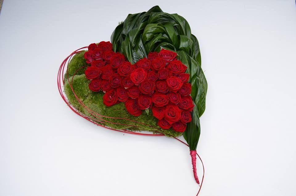 Cœur de roses rouges/Estelle Leclerc