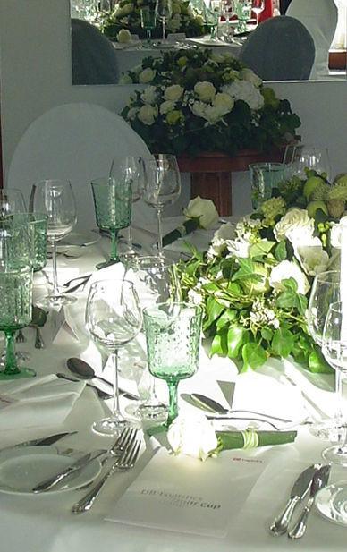 Beispiel: Bankett - Tischdekoration, Foto: Hotel residenz am Motzener See.