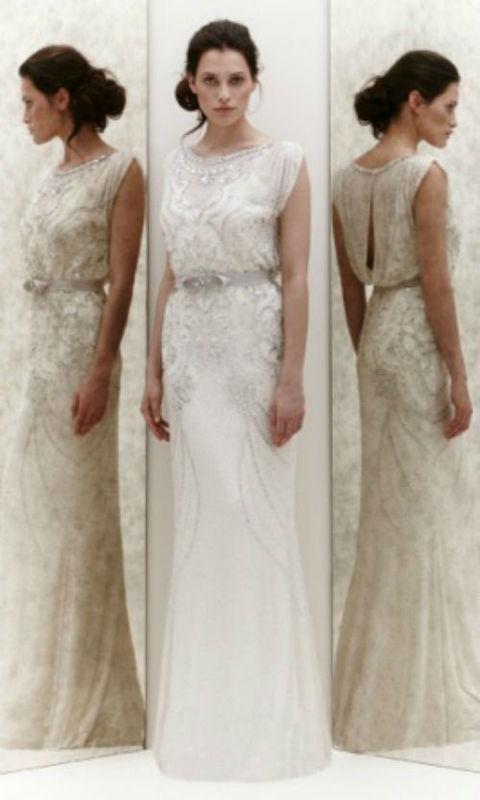 Beispiel: Brautkleid von Jenny Packham, Foto: PETRA PABST Braut- und Abendmode.