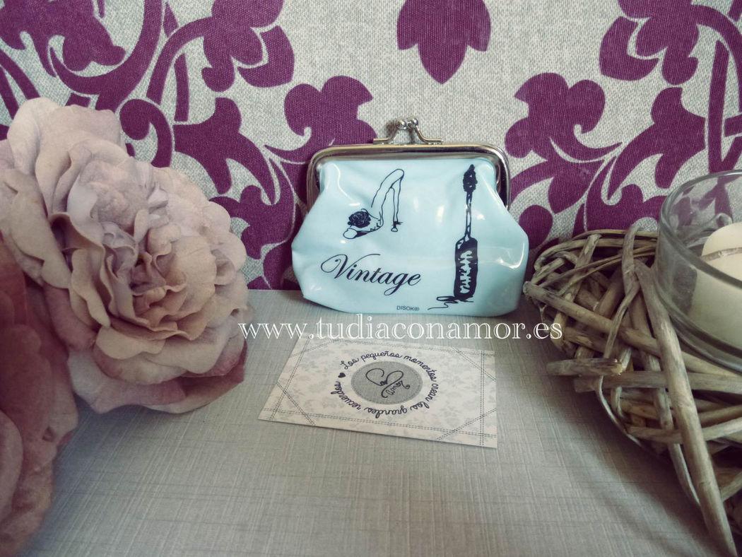 Detalles de boda vintage, monedero en varios estilos