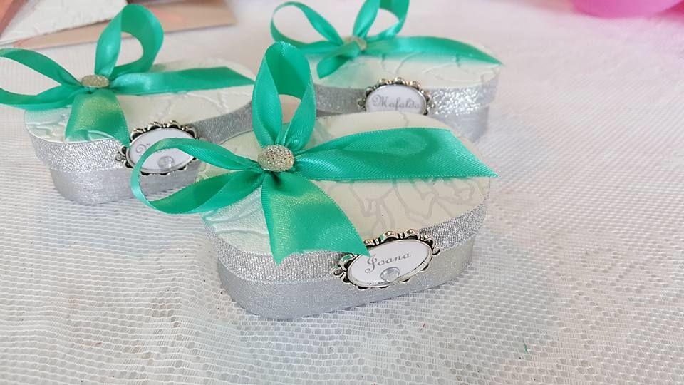 Caixas convite com pulseira para Damas de Honor