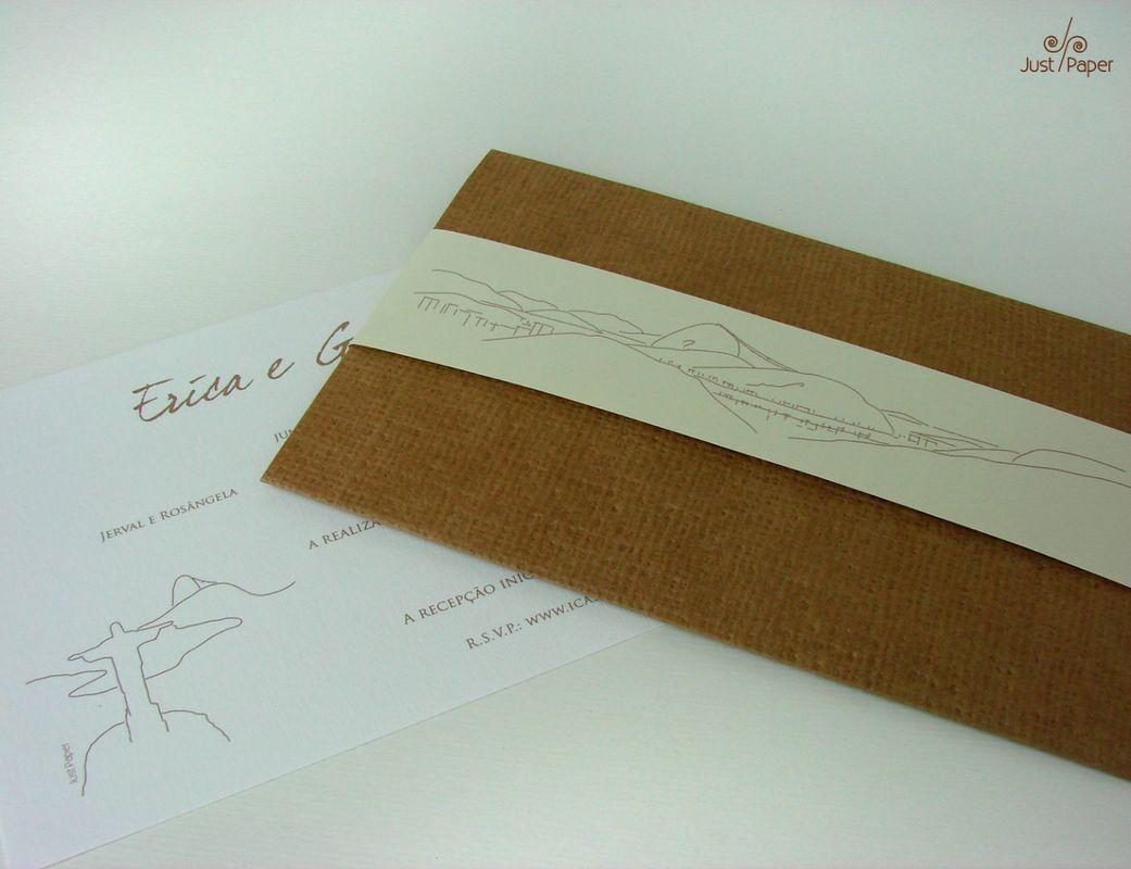 Convite com cinta ilustrada