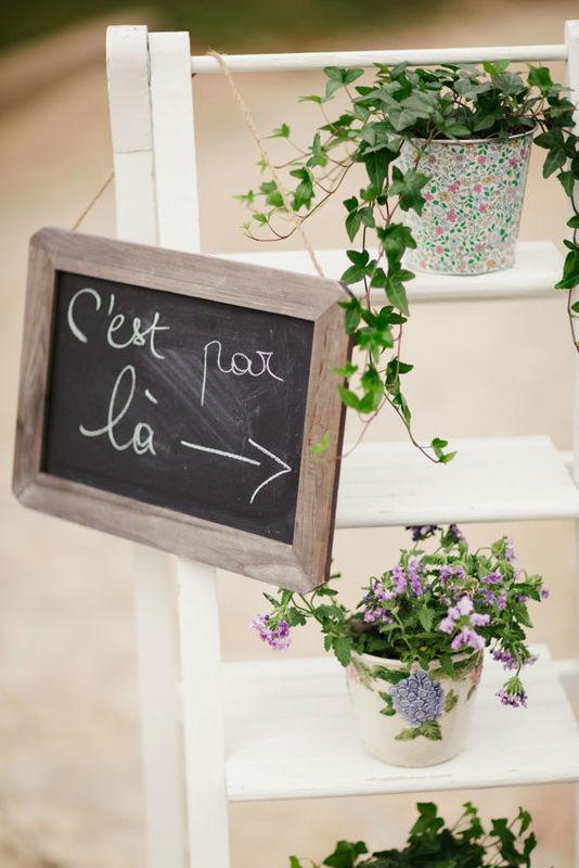 panneau indication wedding
