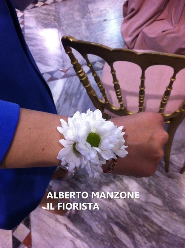 bracciale di fiori