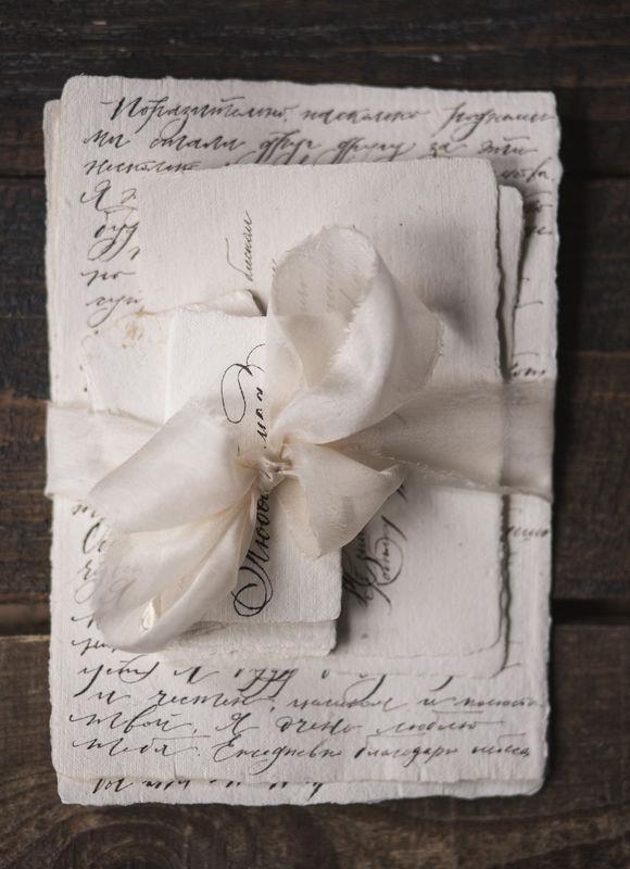 каллиграфия на бумаге ручной работы