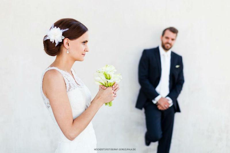 Beispiel: Portrait des Brautpaares, Foto: Sergej Falk.