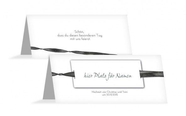 Beispiel: Namenskärtchen, Foto: Hochzeitskarten- Paradies.