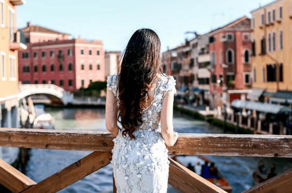 Robe de mariée brodée haute couture | Collection 2017 | Veronika Jeanvie