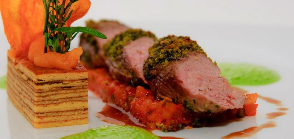 Beispiel: Hochwertige Speisen, Foto: Rauschenberger Eventcatering.