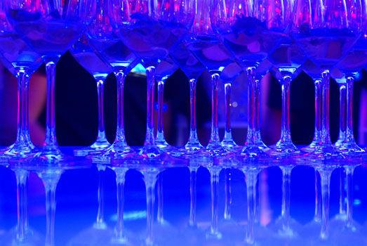 Beispiel: Gläser mit Licht, Foto: Sinnesfreunde.