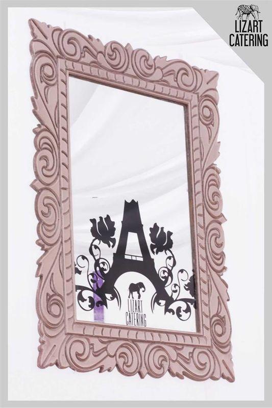 Cuadro de espejo estilo Vintage