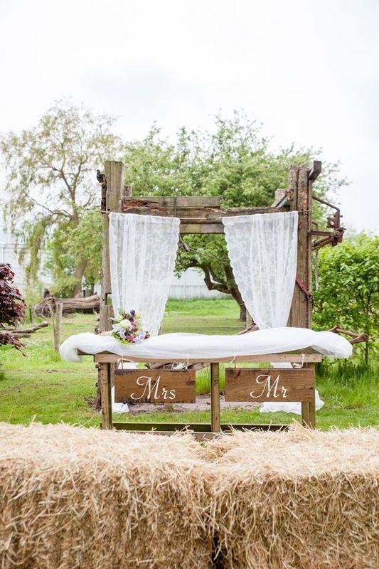 Rustieke bruiloft boerentuin