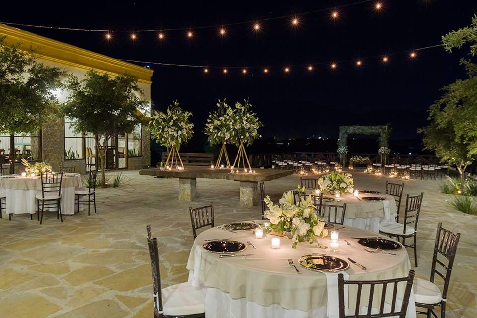 Terraza de la hacienda, ceremonia civil y banquete