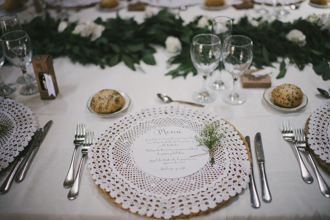 Menú y mesa