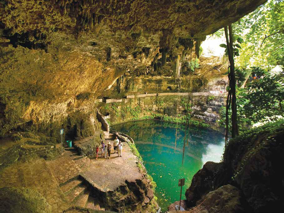 Este es uno de los Cenotes que encontraras en la Peninsula de Yucatán