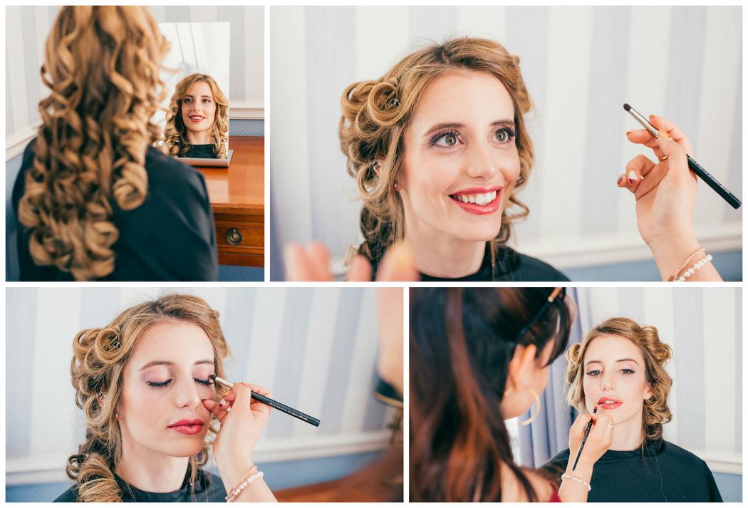 Brautstyling - beim Probetermin Schminke ich bis zu 4 verschiedene Augenmakeups, damit Ihr Look perfekt ist.