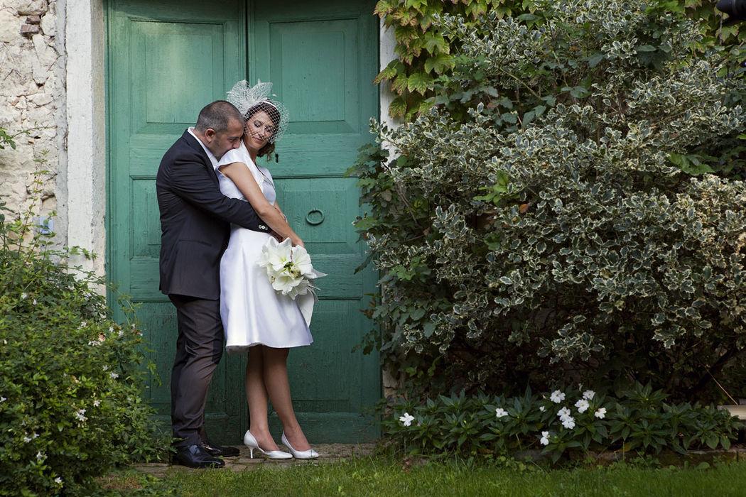 Abito creato su misura in atelier firmatoCasa della Sposa Verona. Consulente sposa: Simonetta