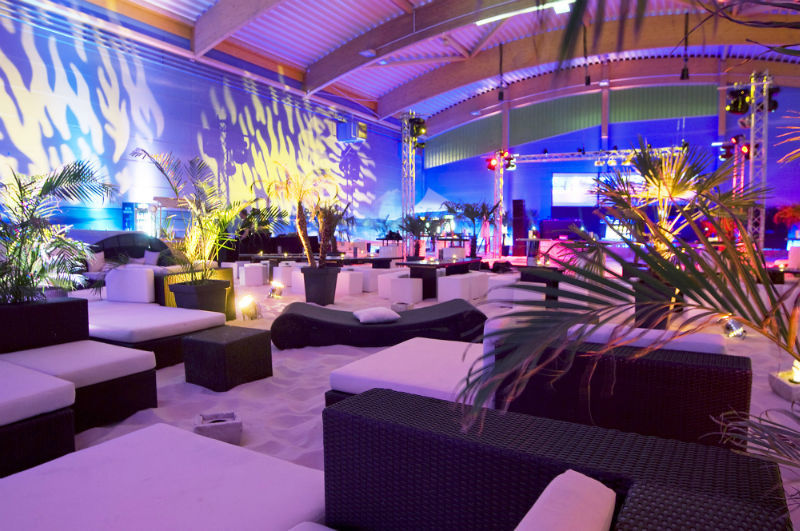 Beispiel: Viele verschiedene Sitzmöglichkeiten, Foto: BeachCenter Hamburg.