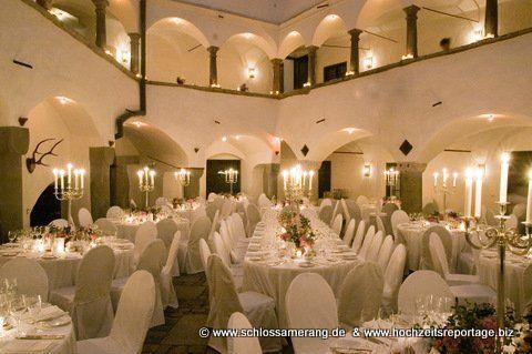 Beispiel: Hochzeitsgedeck, Foto: Schloss Amerang.