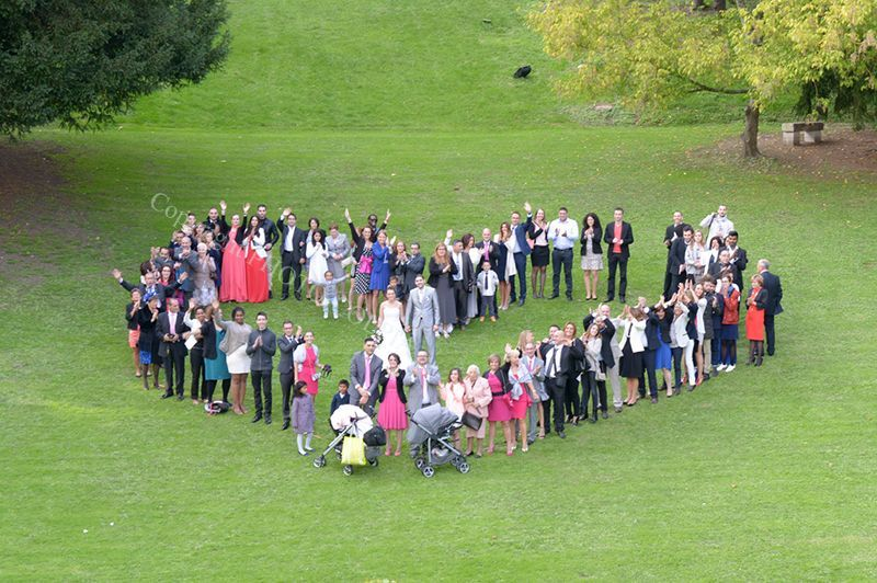 Notre photo de groupe coeur