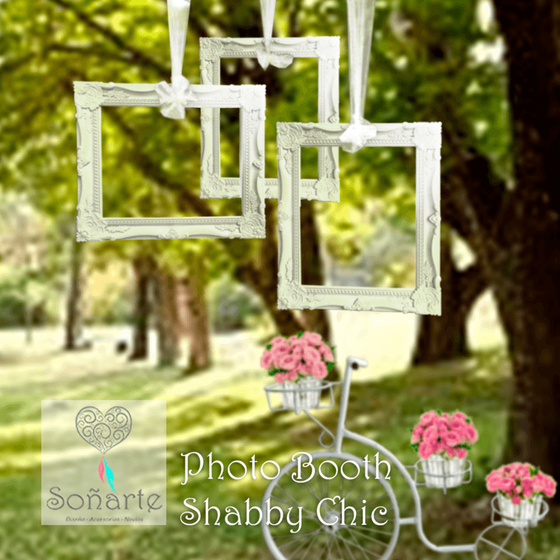 Photo Booth Shabby Chic · Arriendo de estación para fotos