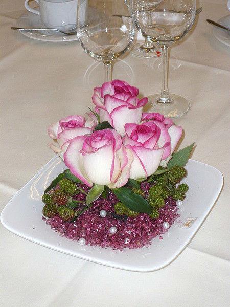 Beispiel: Tischdekoration, Foto: Blumen Steinfort.