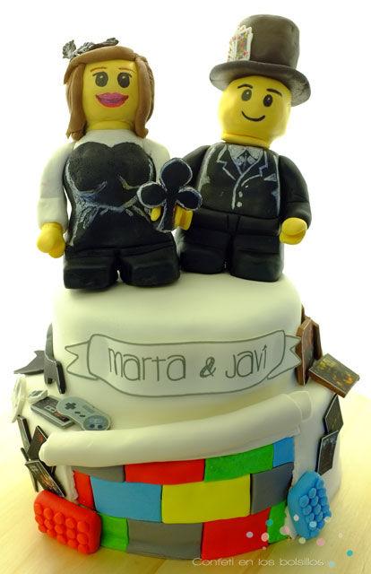 Tarta de boda con Legos
