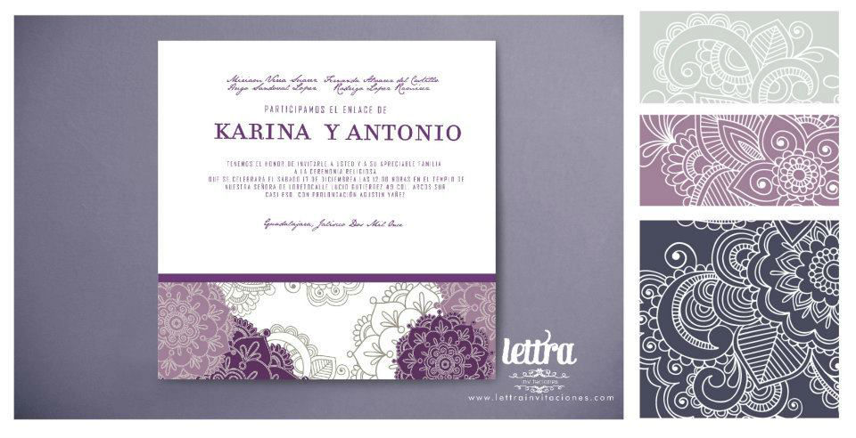 Invitaciones para boda - Foto Lettra Invitaciones
