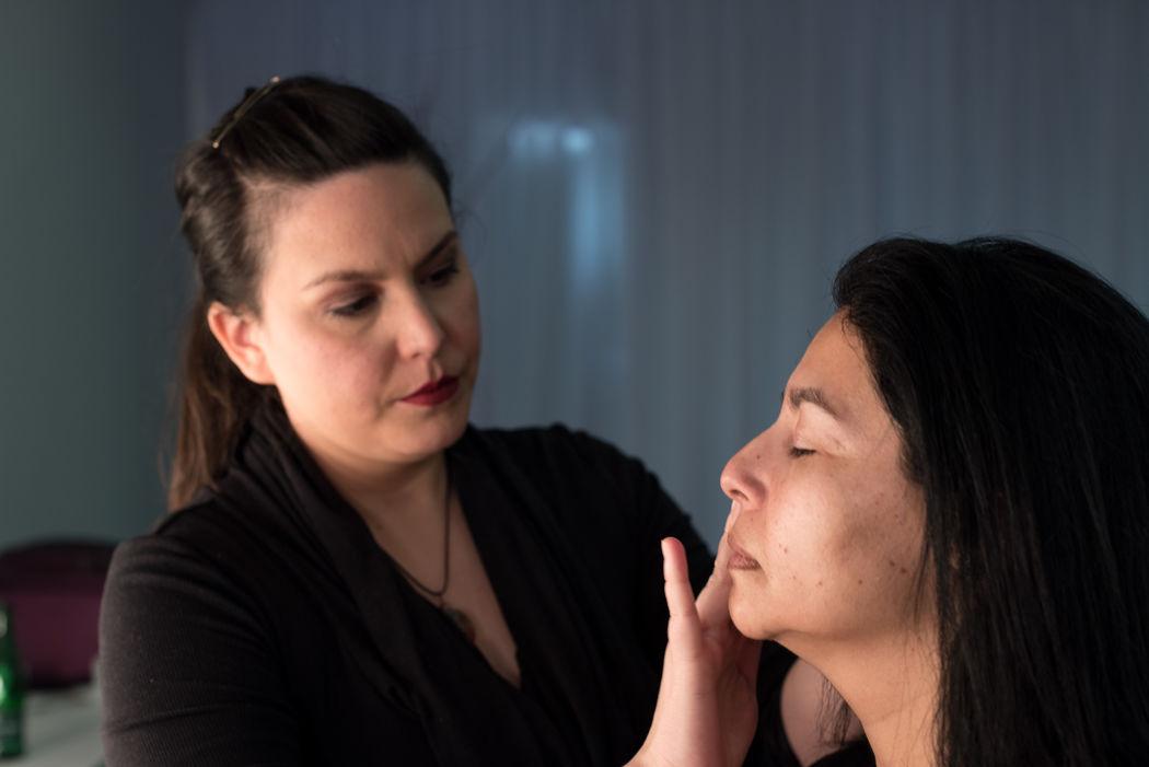 Proceso maquillaje, preparacion de la piel.