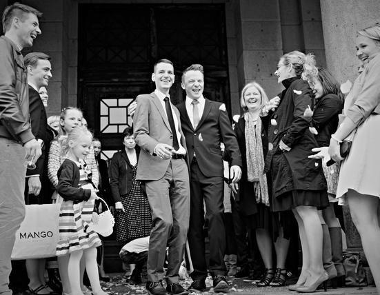Beispiel: Betreuung auch von schwulen und lesbischen Hochzeiten, Foto: JaSager Berlin.