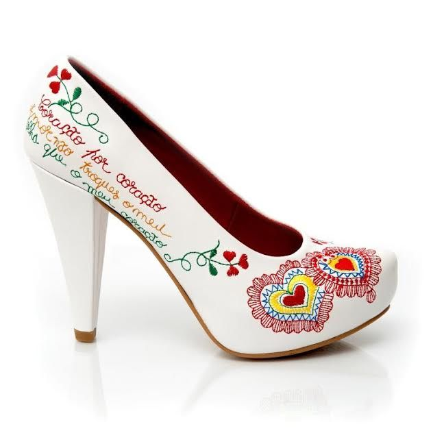 Sapatos Namorar Portugal Flor de Liz - Branco