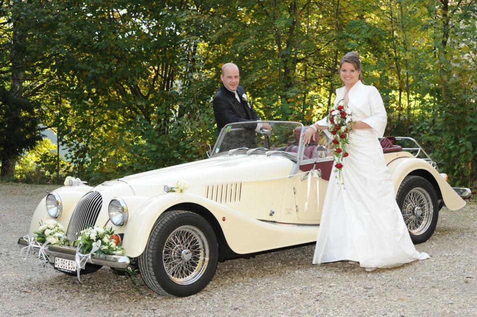 Beispiel: Mieten Sie Ihren Oldtimer zur Hochzeit, Foto: Argovia Classics.