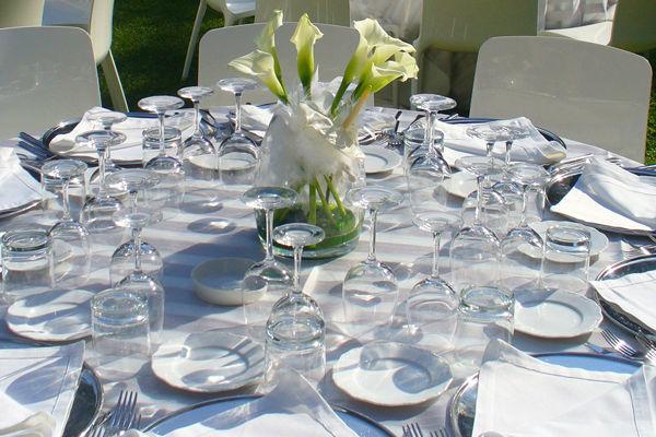 Apparecchiatura matrimonio - -La Buona Tavola Catering&Banqueting Firenze