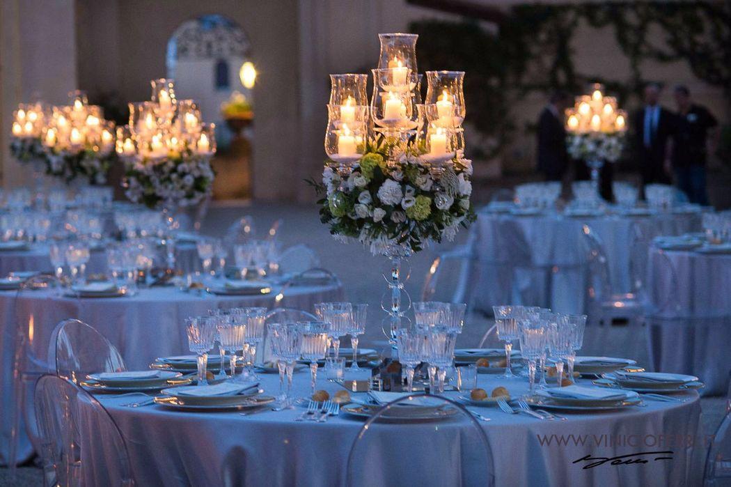 Centrotavola, matrimonio a Villa Aurelia. Roberta Torresan Wedding Planner & Designer, Roma