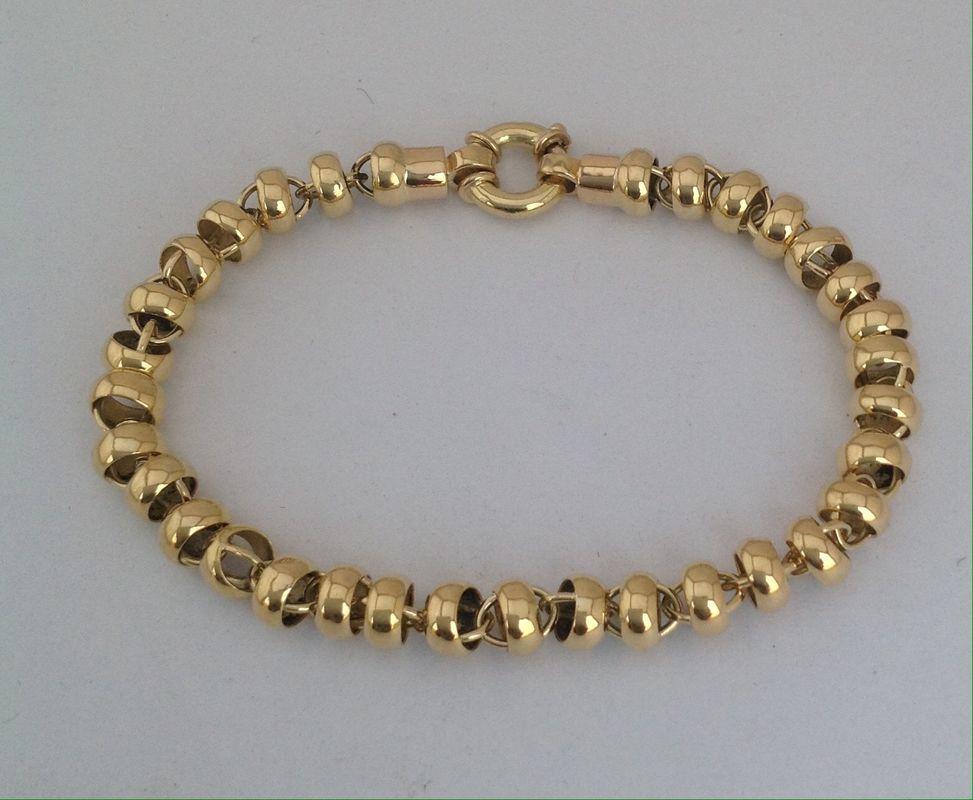 Pulsera oro amarillo 18k