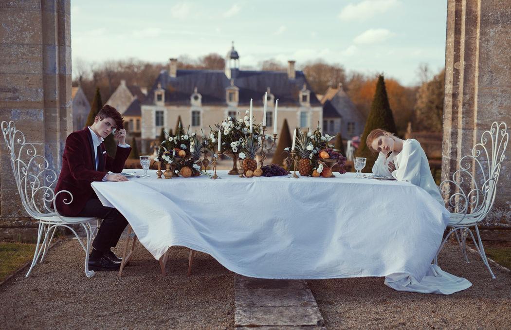 French Antique Wedding - Banquet