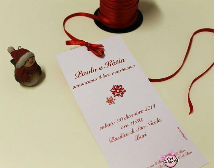 Coi Fiocchi wedding design - invito per un matrimonio natalizio