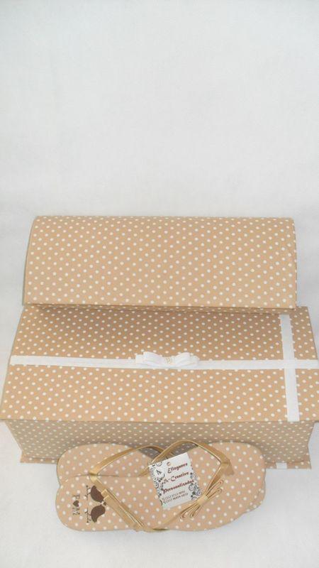 Kit Madrinha: Rasteirinha + Clut + Caixa Personalizada