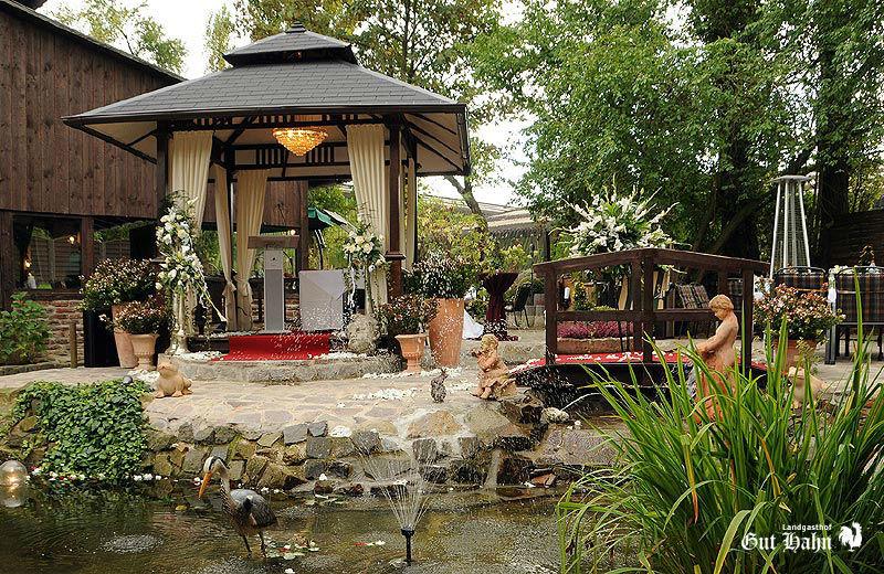 Beispiel: Gartenanlage, Foto: Landgasthof Gut Hahn.