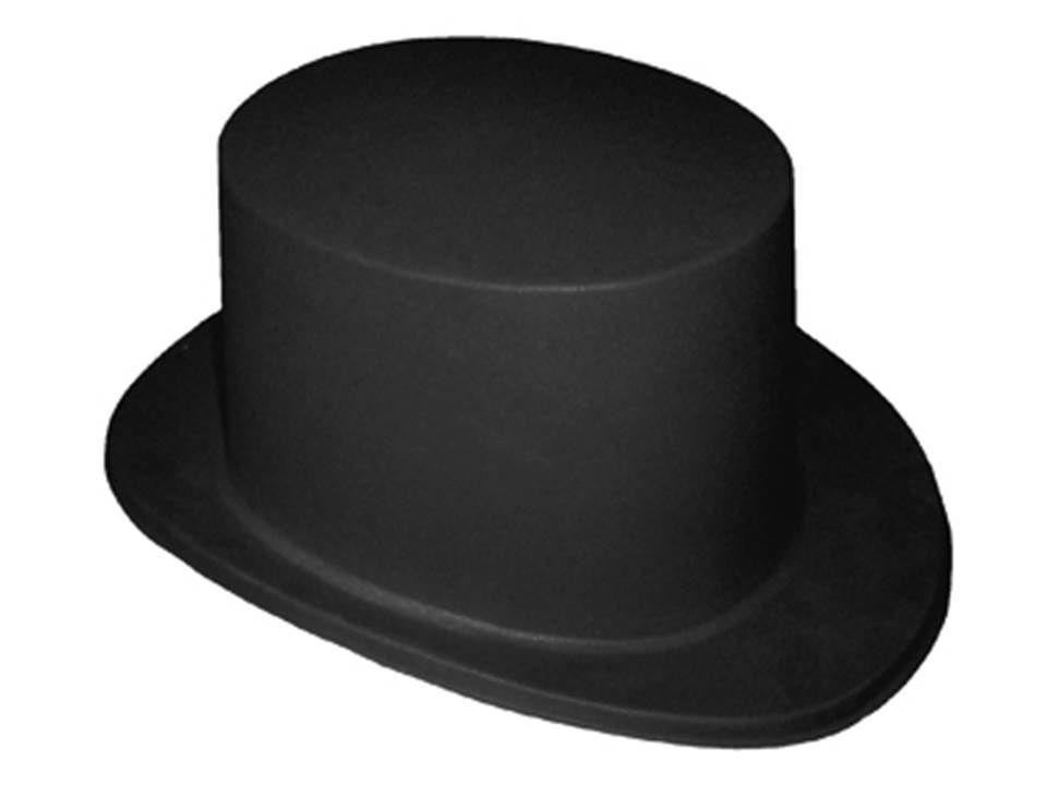 Sombrero de copa tipo mago de plastico